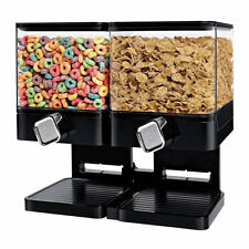 Square Double Cereal Dispenser Dry Food Grains Pasta Storage Container Machine