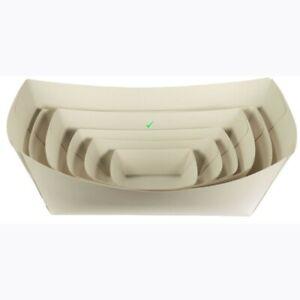 Takeaway White Cardboard Medium Tray 140x85x55  500 pcs
