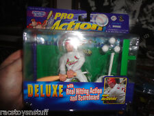 MARK MCGWIRE PRO ACTION FIGURE WITH REAL HITTING ACTION & SCOREBOARD, UNOPENED