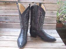 Vintage Panhandle Slim Fancy Western Cowboy Boots Black Leather SIZE 8.5  D MED