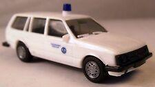 Opel Kadett D Caravan blanco THW luz azul, 1:87 Herpa rar técnico socorro de 1a