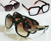 Black or Brown Frame Gazelle Retro Vintage Style Sun Glasses w/ Metal Accents