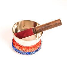 Klangschale (ca. 12 cm) mit Kissen und Stab Zenkoan, ca 490 g, Himalaya