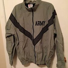 Army Gray Black Jacket Wind Breaker Coat XL Logo JWOD Skilcraft Nylon Military
