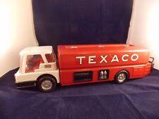 VINTAGE 1960'S TEXACO GAS FUEL TRUCK - PRESSED STEEL - PARK PLASTICS