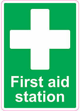 FIRST AID STATION health and safety signs stickers Medical 205x290mm