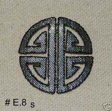 3PCS~ASIAN CHINESE CREST~IRON ON EMBROIDERED APPLIQUES