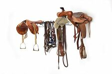 Double Saddle Racks Garage Wall Horse Storage Large by Monkey Bar Storage