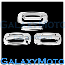 99-06 GMC Sierra Chrome 2 Door handle without Passenger Keyhole+Tailgate Cover