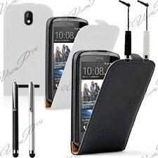 Accessoires Housse Coque Etui Rabattable Cuir PU Vrai Stylet Pour HTC Desire 610