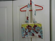 VINTAGE ALL FABRIC COTTON SHOULDER BAG (UNUSED) FULLY LINED.