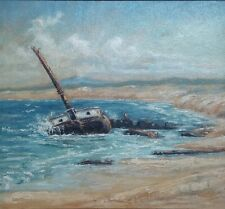 """Wreck of the William H. Smith"" Original Painting, Charles Hoyt,  Monterey, 1933"