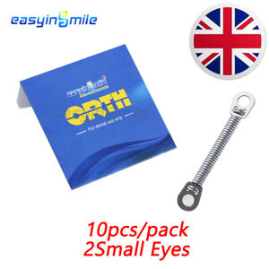 10Pc/Pack Elastic Niti Closed Coil Spring Dental Orthodontic 012 6MM 2Small Eyes