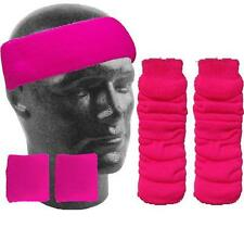 NEON LEG WARMERS HEADBAND SWEATBANDS UV HEN PARTY FANCY DRESS COSTUME