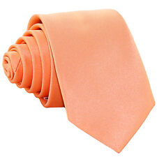 "New Polyester Men's 2.5"" skinny Neck Tie only solid formal wedding prom peach"