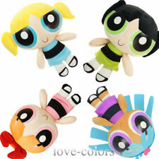 "4 Pcs/Set New Powerpuff Girls Plush Doll Bubbles Blossom Bilsstina Toy 8"" 20 cm"