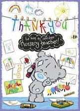 Thank You NURSERY TEACHER - Small - DInky Tatty Teddy Me to You - Greeting Card