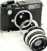 Leica L39 to LEICA M Adapter for LTM 50-75mm Lenses + L39 Body Cap + M Lens Cap