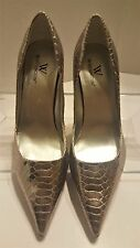 ❤ Worthington ❤ Pinkish Silver Metallic Faux Snakeskin Pump Heels ❤ Shoes 6.5 M