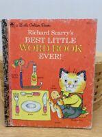 VINTAGE A LITTLE GOLDEN BOOK HARDBACK- Richard Scarry's Best Little Word Ever
