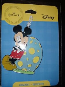 Easter Hallmark Metal Disney Mickey Mouse Easter Egg Ornament Decoration NEW