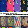 for Samsung Galaxy S5 Defender Case Cover w/ screen & belt clip fits Otterbox