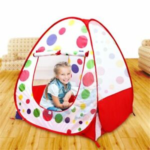 Kids Play Tent Outdoor Indoor House Castle Princess Children Portable Pop Up Pit
