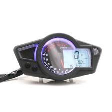 12v LCD Digital Speedometer Odometer Tachometer Gauge Kmh/Mph Motorcycle Scooter