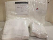 Tommy Hilfiger 3-Piece Towel Set, White Bath, Hand, Washcloth NWT