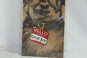 Dog Supplies (new) HELLO MY NAME IS GOOD BOY - COLLAR CHARM - RED, WHITE & GOLD