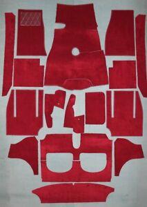 Red velours carpet kit for Austin Healey BT7 3000 MK I + II  1959-1962