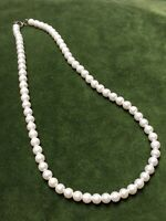1950s Style Necklace Faux Pearl Vintage Jewellery Spring Ring Clasp