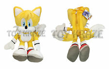 "SONIC THE HEDGEHOG PLUSH BACKPACK! TAILS YELLOW SOFT DOLL FIGURE SEGA 18"" NWT"