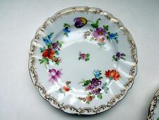 "Dresden Flowers Bread Butter Plate 5 1/2"" Richard Klemm Gilded HP #2 Antique"