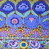 """44"""" Remnant Kaffe Fassett Lge Scale Embroidered Flower Border PWKF001-Blue Fab"""