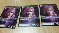Set of 3 Final Fantasy TCG Lightning Promo Card PR-003 (non-foil)  FFTCG