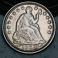 1853 Seated Liberty Half Dime 5C Arrows HIGH GRADE Good US Silver Coin CC4533