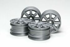 Tamiya 51334 M-Chassis Flat 8-Spoke Wheels 4 Pcs (Silver) (M03/M04/M05/M06/M07)