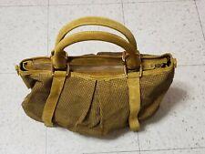 Burberry Mustard Suede Brass Studded Prorsum Knight Satchel Bag IPELANN5254AFIR