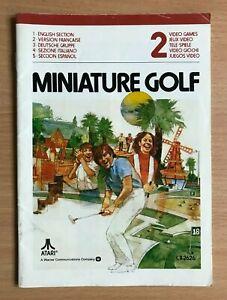 ATARI 2600 - MINIATURE GOLF - Instruction Manual