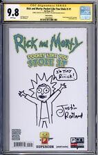 Rick and Morty Pocket Like You Stole it 1 CGC SS 9.8 Tiny Rick Sketch Roiland TV