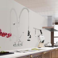 """Aquaterior ® Commercial pré-enxaguar Torneira com 12"""" Add-on Torneira máquina de lavar louça cupc NSF"""
