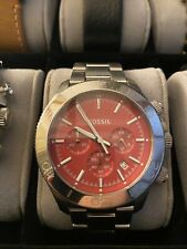 Fossil Watch Men's Red Face
