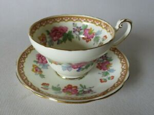 Vintage Foley China Tea Cup & Saucer Set Bone China England Shalimar Lovely!