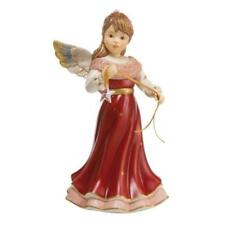 Bright Christmas Swarovki Star 20cm Standing Angel in Red by Goebel