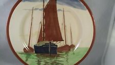 "Vintage Royal Doulton Decorative Plate "" Sailboats "" 1902-1922"