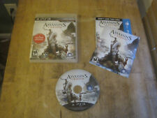 Assassin's Creed III - Sony PS3 - Game, Case, & Manual