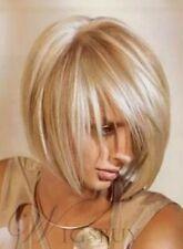 Beautiful Soft Layered Cut Fashion Short Straight Light Blonde Bob Wig