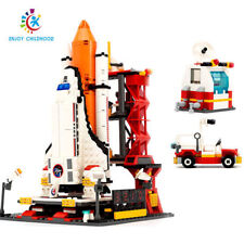 Educational Toy City Spaceport Space Shuttle Launch Center Bricks Building Block