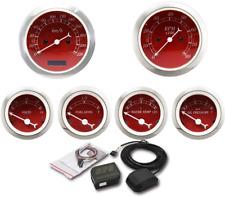 MOTOR METER RACING 6 Gauge Set Classic Electronic Speedometer GPS Set KMH °C BAR